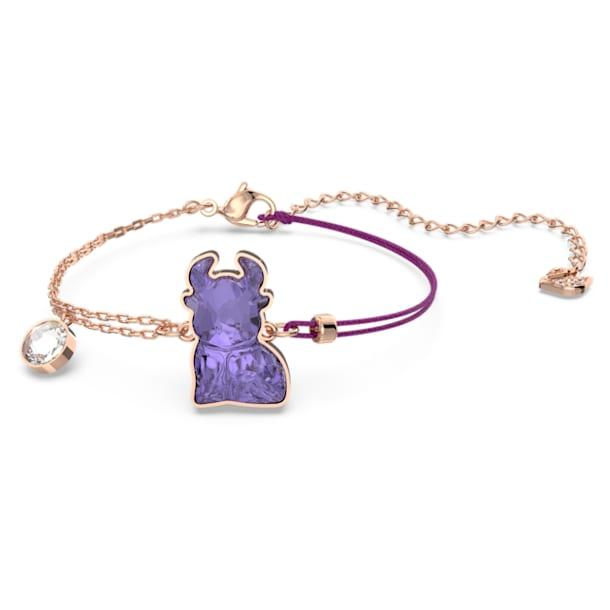 Chinese Zodiac Bracelet, Violet, Rose-gold tone plated - Swarovski, 5599280