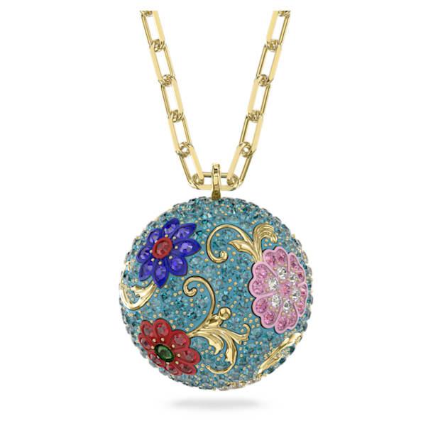 Flower of Fortune Pendant, Flower, Multicolor, Gold-tone plated - Swarovski, 5599484