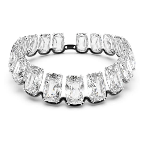 Harmonia choker, Oversized floating crystal, White, Mixed metal finish - Swarovski, 5600035
