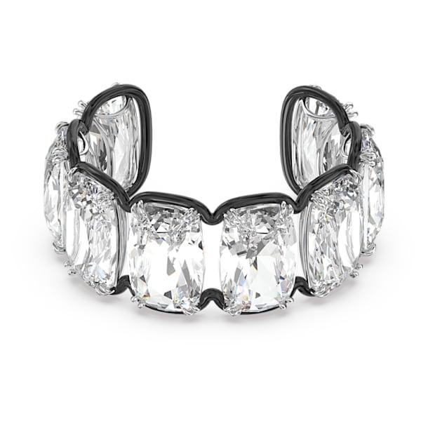 Harmonia cuff, Oversized floating crystal, White, Mixed metal finish - Swarovski, 5600039
