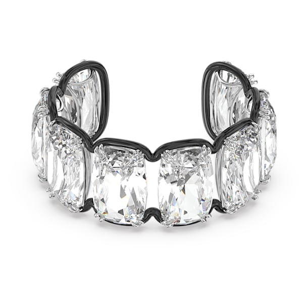 Harmonia cuff, Oversized floating crystals, White, Mixed metal finish - Swarovski, 5600039