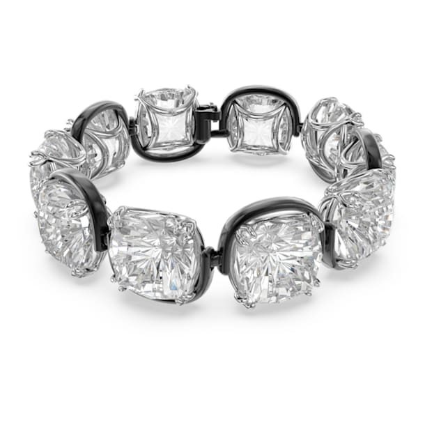 Harmonia bracelet, Cushion cut crystals, White, Mixed metal finish - Swarovski, 5600047