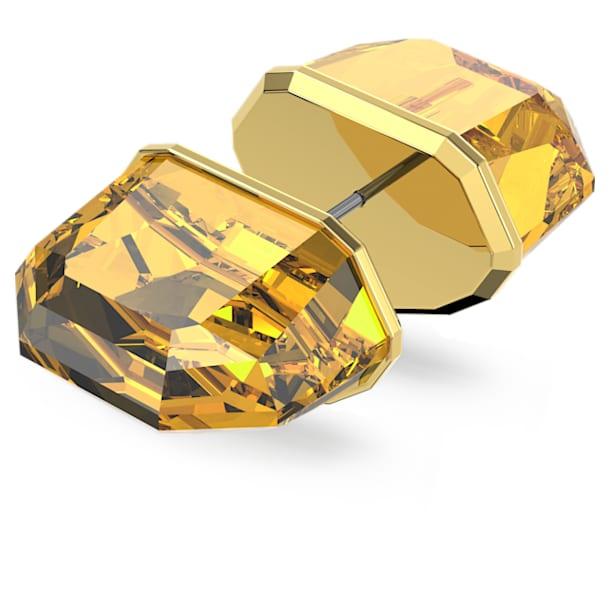 Pendiente de botón Lucent, Individual, Amarillo, Baño tono oro - Swarovski, 5600253