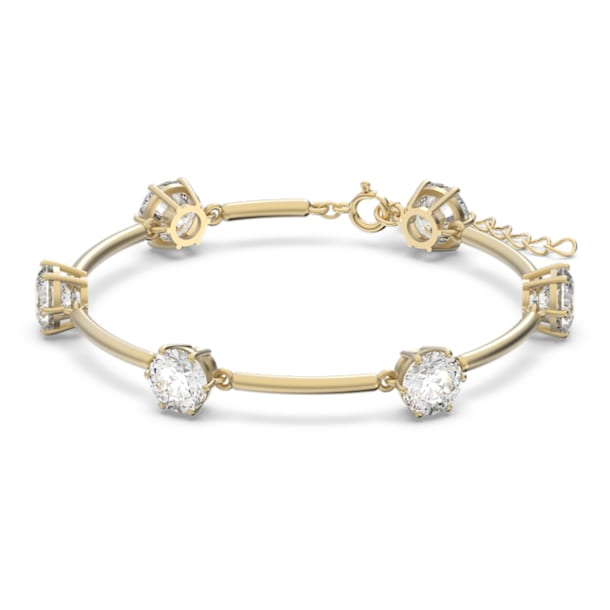 Constella bracelet, White, Gold-tone plated - Swarovski, 5600487