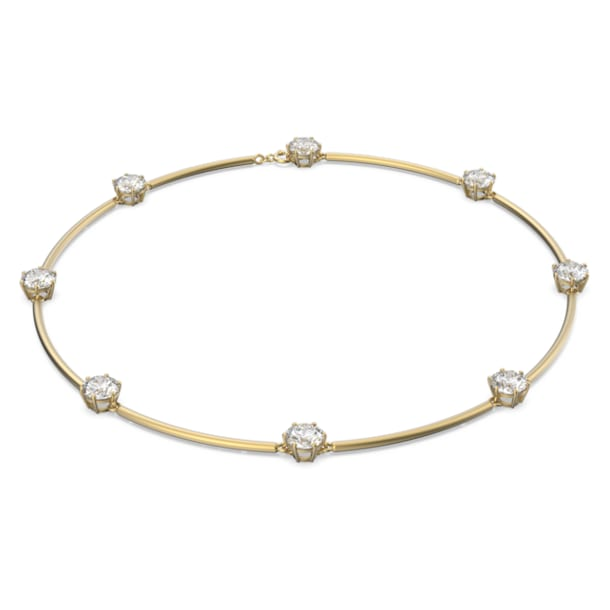Constella choker , Wit, Mat goud kleurtoon plating - Swarovski, 5600488