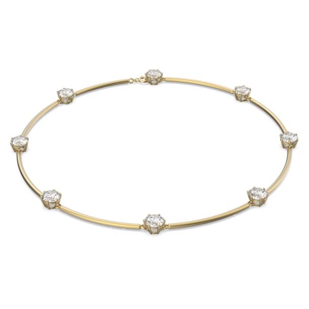 Gargantilha Constella, Branco, Revestimento em tom dourado mate - Swarovski, 5600488