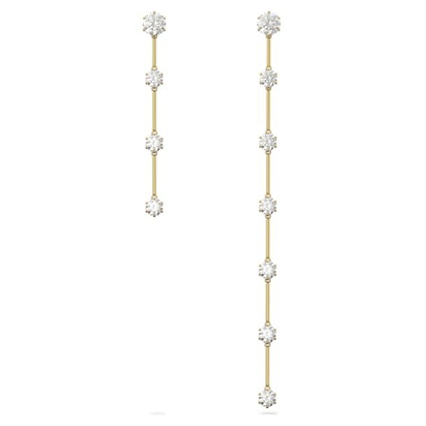 Constella 穿孔耳環, 非對稱, 白色, 鍍金色色調 - Swarovski, 5600490