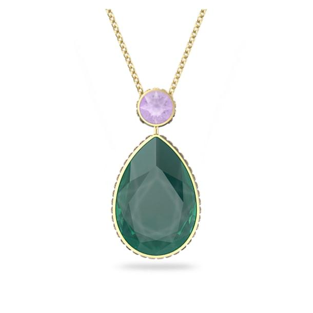 Collier Orbita, Cristal taille goutte, Multicolore, Métal doré - Swarovski, 5600517