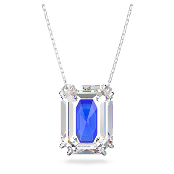 Pendente Chroma, Cristallo taglio Ottagonale, Blu, Placcato rodio - Swarovski, 5600625