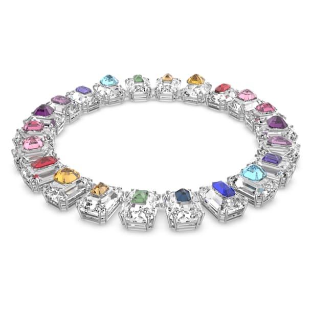 Gargantilla Chroma, Cristales de gran tamaño, Multicolor, Baño de rodio - Swarovski, 5600626