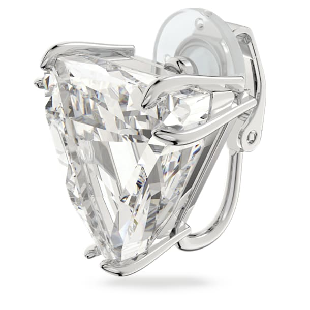 Mesmera Клипса, Одиночный, Дельта, Белый кристалл, Родиевое покрытие - Swarovski, 5600753