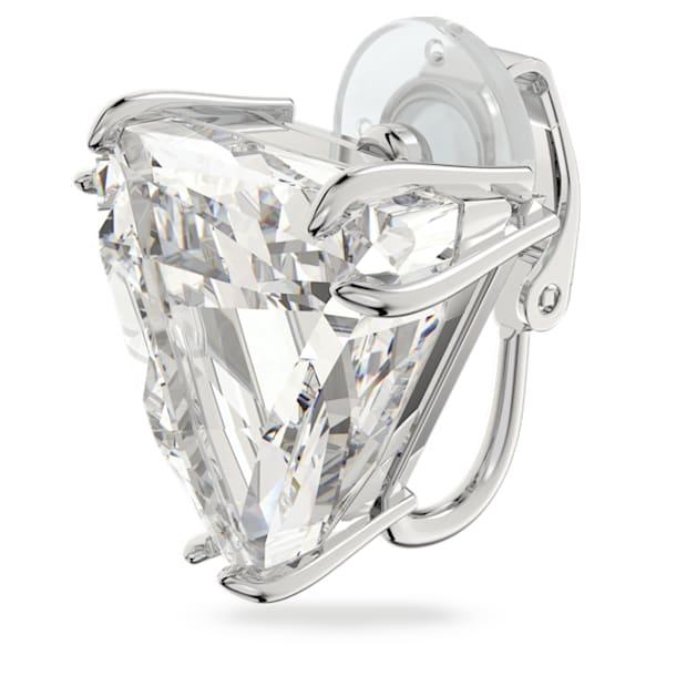 Mesmera clip earring, Single, Delta, White, Rhodium plated - Swarovski, 5600753