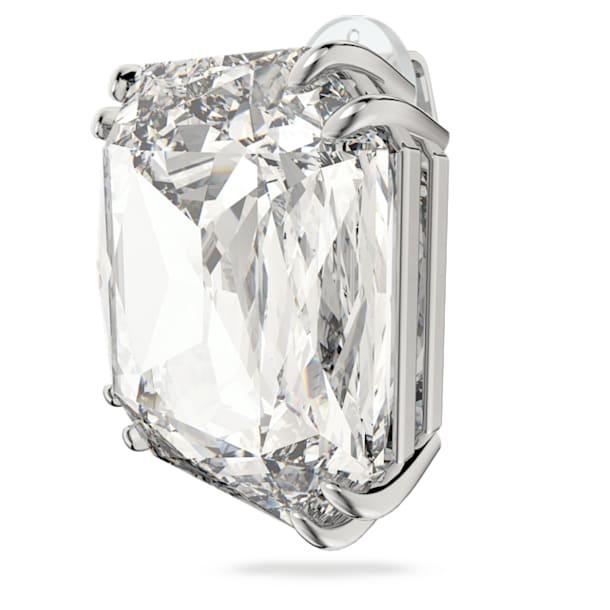 Mesmera 夾式耳環, 單個, 方形切割Swarovski水晶, 白色, 鍍白金色 - Swarovski, 5600756