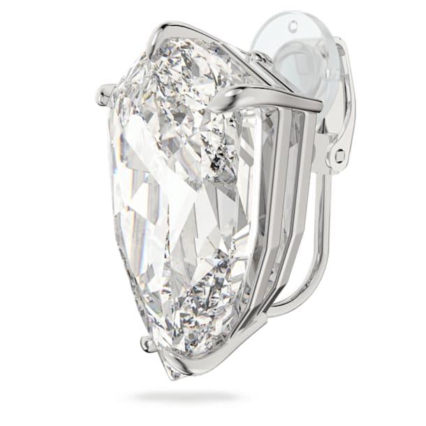 Σκουλαρίκι με κλιπ Mesmera, Κρύσταλλο κοπής trilliant, Λευκό, Επιμετάλλωση ροδίου - Swarovski, 5600758