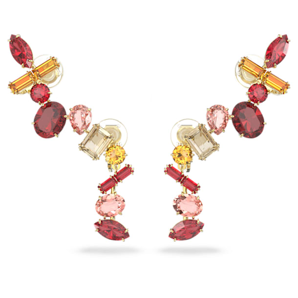 Gema clip earrings, Multicolored, Gold-tone plated - Swarovski, 5600762
