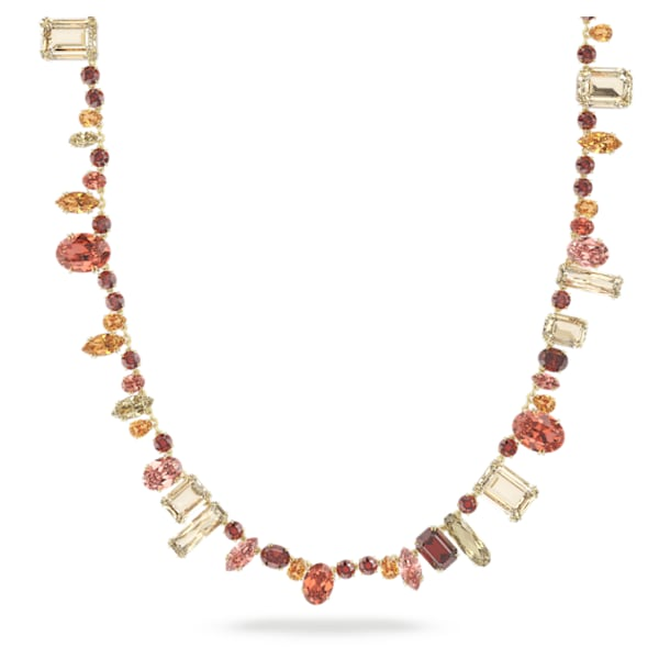 Gema necklace, Extra long, Multicoloured, Gold-tone plated - Swarovski, 5600764