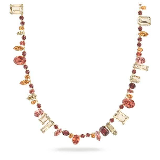 Gema nyaklánc, Extra hosszú, Többszínű, Aranytónusú bevonattal - Swarovski, 5600764