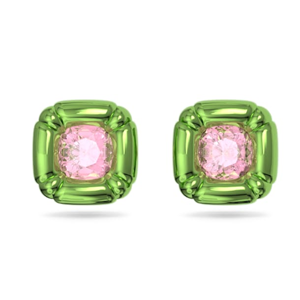Dulcis stud earrings, Green - Swarovski, 5600778