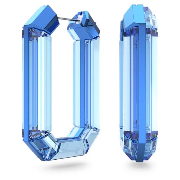 Lucent karika fülbevaló, Kék, Ródium bevonattal - Swarovski, 5600788