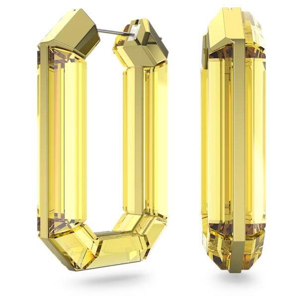 Lucent hoop earrings, Yellow - Swarovski, 5600789