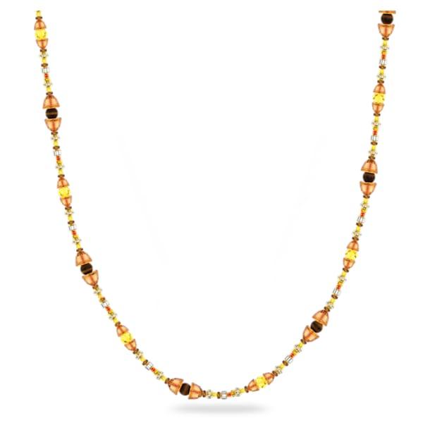 Somnia 項鏈, 超長, 咖啡色, 鍍金色色調 - Swarovski, 5600790