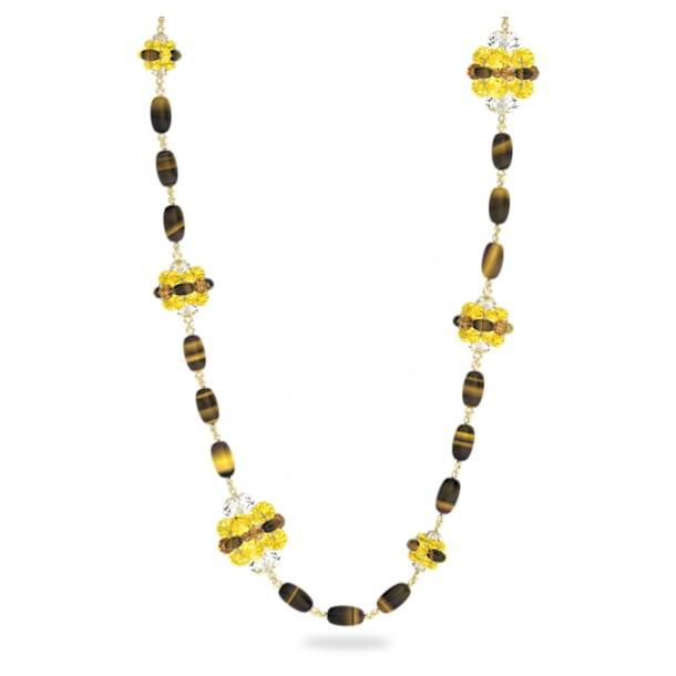 Somnia necklace, Brown, Gold-tone plated - Swarovski, 5600794