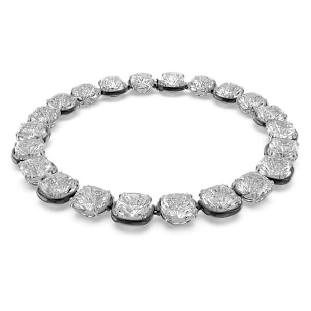 Harmonia 頸鍊, 枕形切割Swarovski水晶, 白色, 多種金屬潤飾 - Swarovski, 5600942