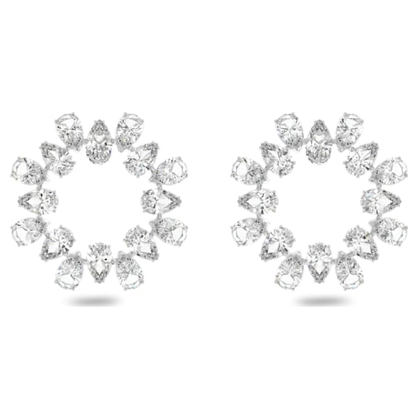 Boucles d'oreilles Millenia, Blanc, Métal rhodié - Swarovski, 5601509