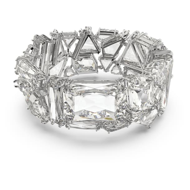 Bransoletka Mesmera, Duże kryształy, Biały, Powłoka z rodu - Swarovski, 5601530