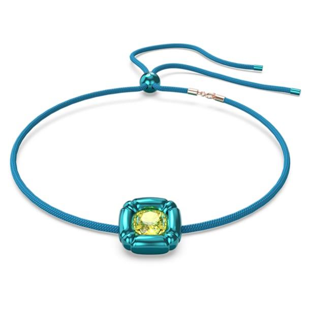 Collier Dulcis, Cristaux taille coussin, Bleu - Swarovski, 5601586