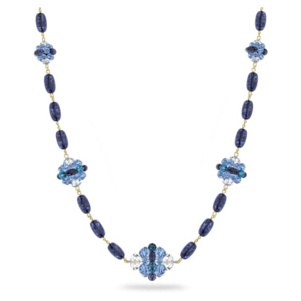 Κολιέ Somnia, Πολύ μακρύ, Μπλε, Επιμετάλλωση σε χρυσαφί τόνο - Swarovski, 5601905