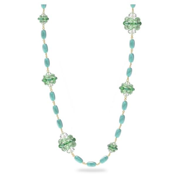 Somnia necklace, Green, Gold-tone plated - Swarovski, 5601906