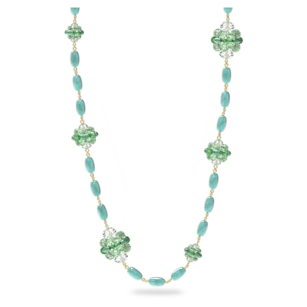 Somnia necklace, Green, Gold-tone plated - Swarovski, 5601906
