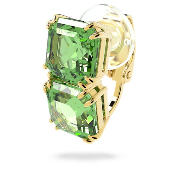 Millenia ear cuff, Single, Green, Gold-tone plated - Swarovski, 5602389
