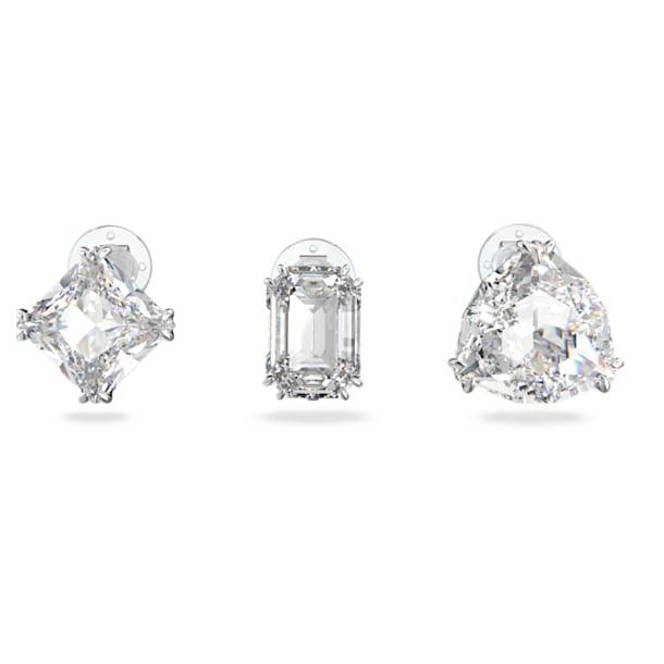 Millenia clip earring, Single, Set (3), White, Rhodium plated - Swarovski, 5602413