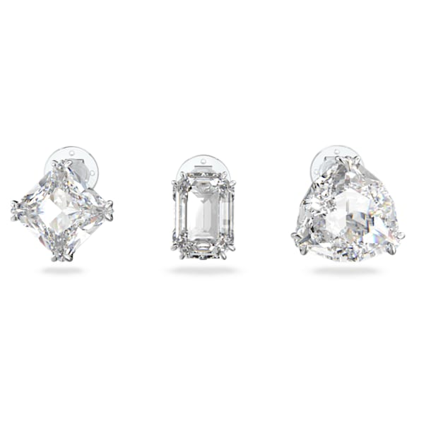Boucle d'oreille à clipper Millenia, Mono, Parure (3), Blanc, Métal rhodié - Swarovski, 5602413