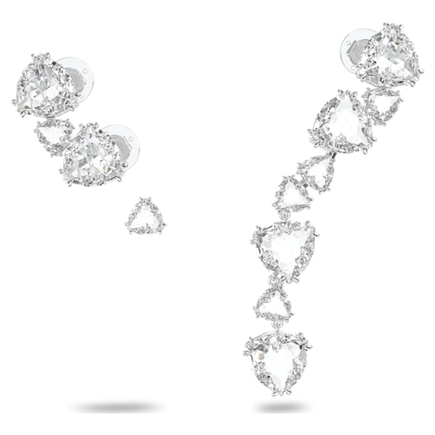 Millenia ear cuff, Single, Asymmetrical, Set, White, Rhodium plated - Swarovski, 5602846
