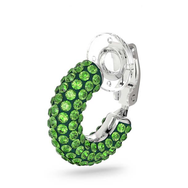 Pendientes Ear Cuff Tigris, Suelto, Verde, Baño de rodio - Swarovski, 5604959