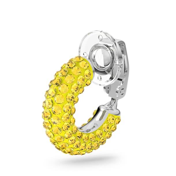 Σκουλαρίκι-χειροπέδα Tigris, Μονό, Κίτρινο, Επιμετάλλωση ροδίου - Swarovski, 5604960