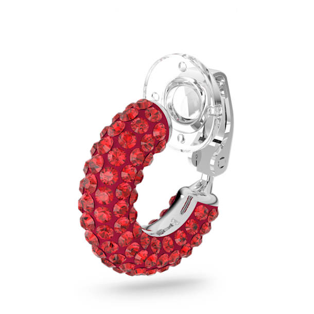 Tigris ear cuff, Single, Red, Rhodium plated - Swarovski, 5604963