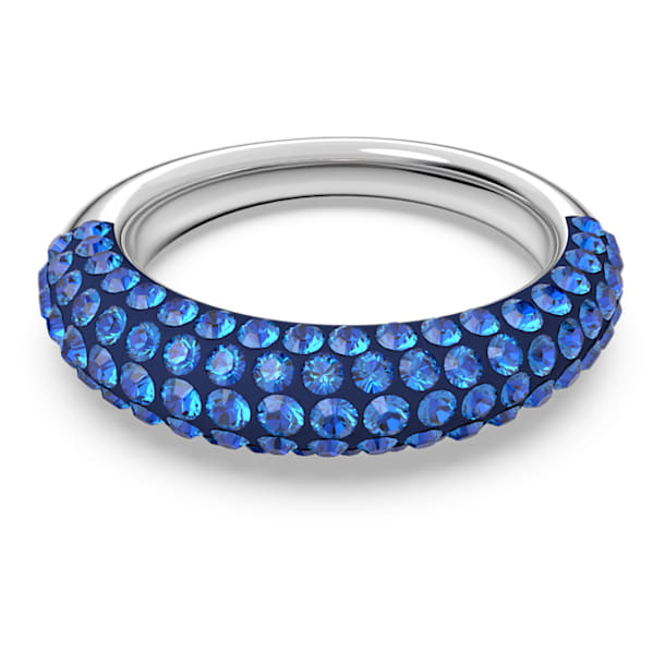Tigris ring, Blue, Rhodium plated - Swarovski, 5605017