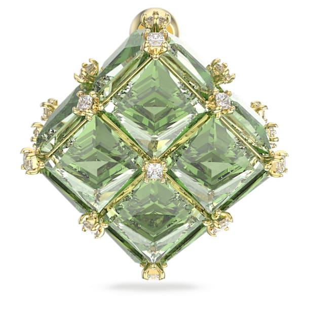 Pecková náušnice Curiosa, Samostatný, Zelená, Pokoveno ve zlatém odstínu - Swarovski, 5606950