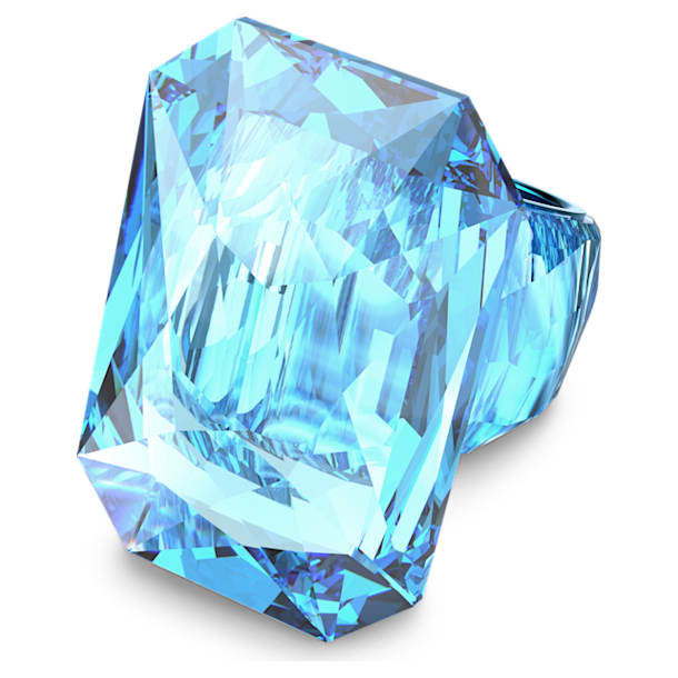 Lucent cocktail ring, Oversized crystal, Blue - Swarovski, 5607356