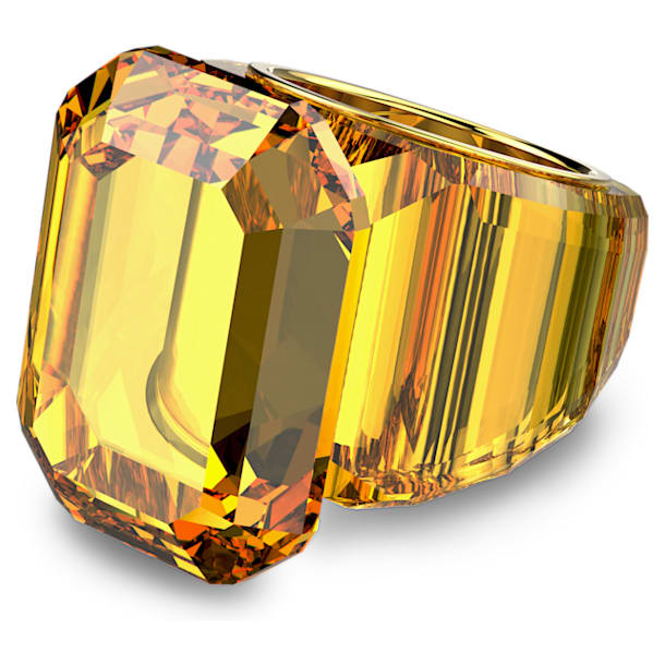 Lucent cocktail ring, Yellow - Swarovski, 5608548