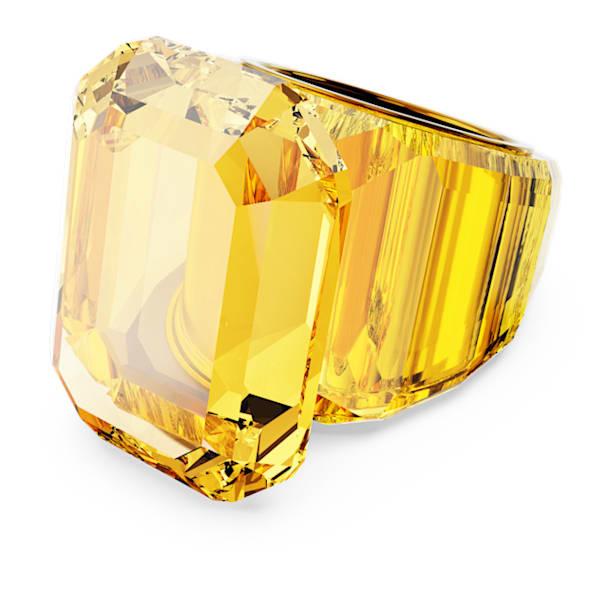 Lucent cocktail ring, Yellow - Swarovski, 5608549