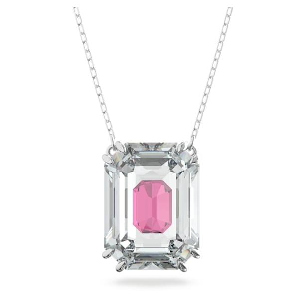 Chroma necklace, Pink, Rhodium plated - Swarovski, 5608647