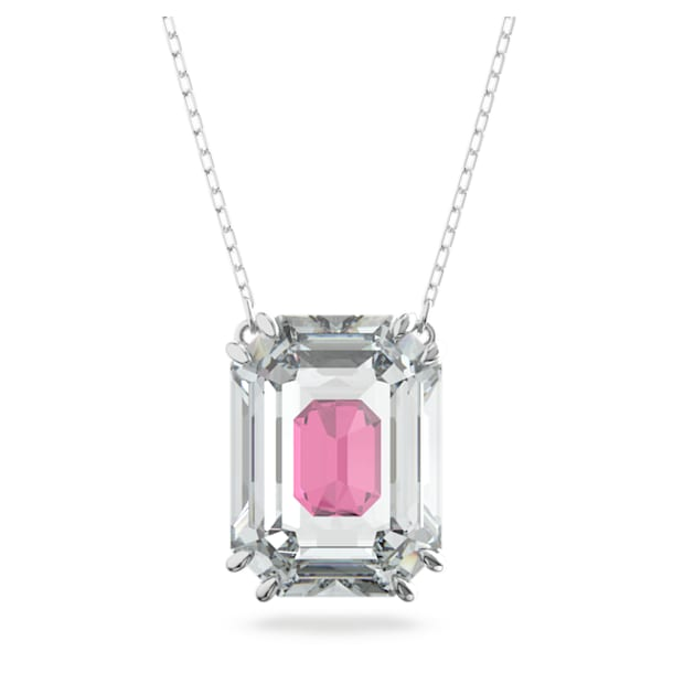 Chroma necklace, Pink, Rhodium plated - Swarovski, 5608647