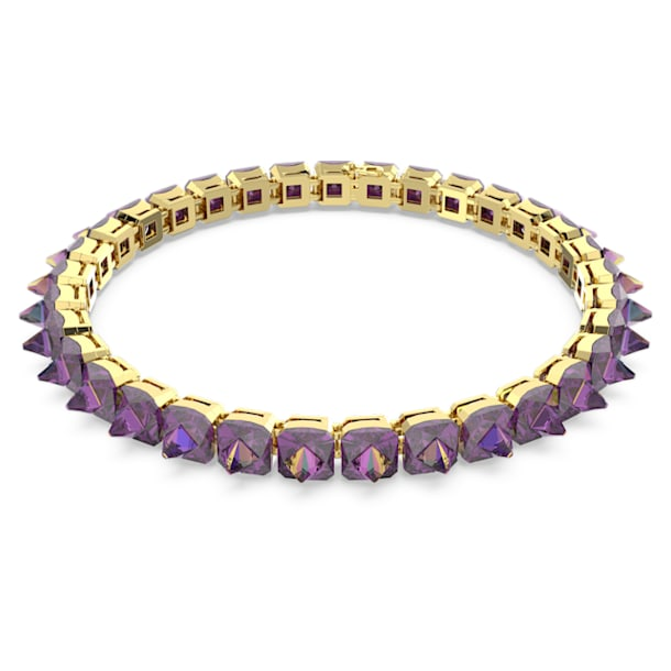 Chroma choker, Spike crystals, Purple, Gold-tone plated - Swarovski, 5608714