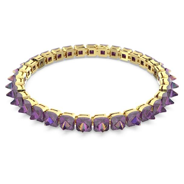 Gargantilla Chroma, Cristales de punta, Morado, Baño tono oro - Swarovski, 5608714