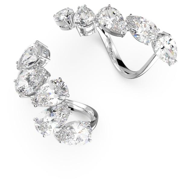 Millenia ring, Set (2), White, Rhodium plated - Swarovski, 5609003